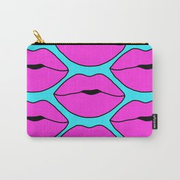 Hot Pink Close up Lips Carry-All Pouch