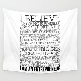 Entrepreneur Manifesto Wall Tapestry