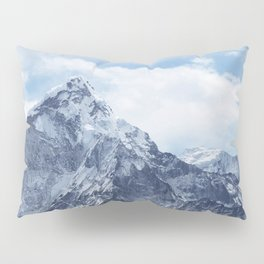 Snowy Mountain Peaks Pillow Sham