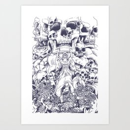 Herbology of fear. The fruit Art Print
