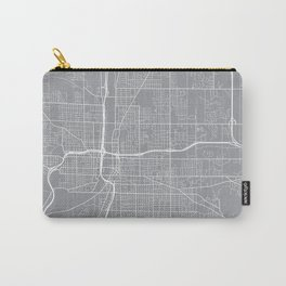 Grand Rapids Map, Michigan USA - Pewter Carry-All Pouch