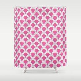 Pearly Glow Fuschia Shower Curtain