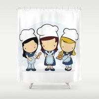 cook Shower Curtains featuring Cook by Jaqueline Teixeira