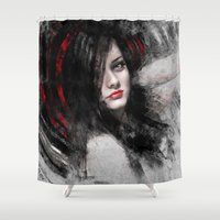 passion Shower Curtains featuring Passion by Kanelov