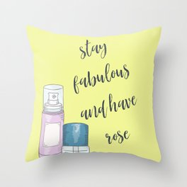Stay Fabulous Motivational Quote Throw Pillow
