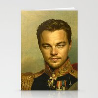 leonardo dicaprio Stationery Cards featuring Leonardo Dicaprio - replaceface by replaceface
