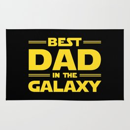 Best Dad in the Galaxy Rug