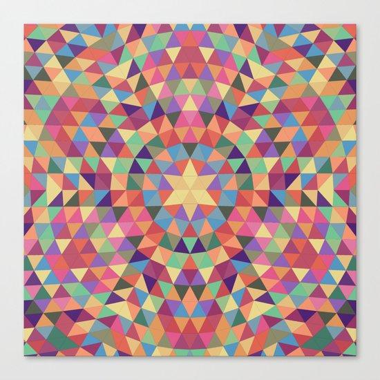 Happy triangle mandala Canvas Print