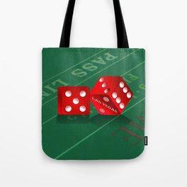 Craps Table & Red Las Vegas Dice Tote Bag