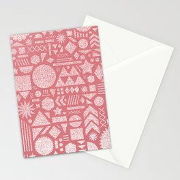 Modern Elements with Bubble Gum. Stationery Cards