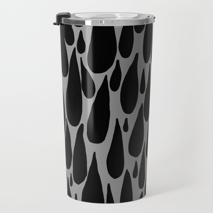 tears in black and grey Travel Mug