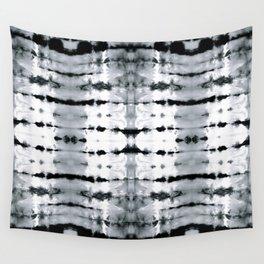 BW Satin Shibori Wall Tapestry