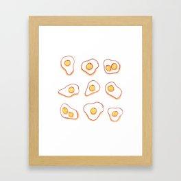 Nine times eggs. Framed Art Print