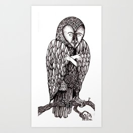 Owl being Art Print