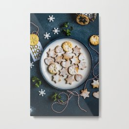 Santa's Christmas Cookies (Color) Metal Print