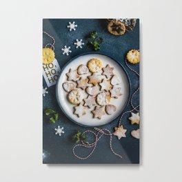 Santa's Christmas Cookies (Color) Metal Print