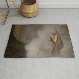 """The Dragon Awakes"" by Theodor Kittelsen Rug"