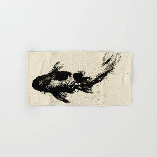 Black Koi Hand & Bath Towel
