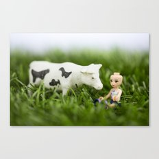 Baldy & Cow Canvas Print