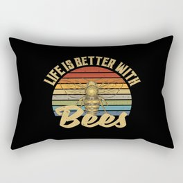 Life Is Better With Bees Rectangular Pillow
