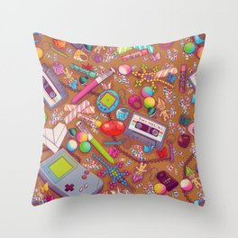 90's Sock Drawer Throw Pillow