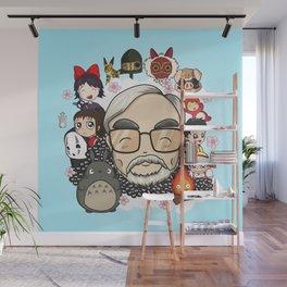 Ghibli, Hayao Miyazaki and friends Wall Mural
