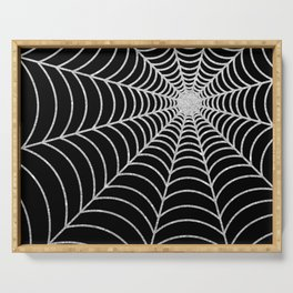 Spiderweb | Silver Glitter Serving Tray