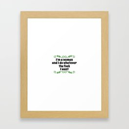 Womens rights | feminism gift idea Framed Art Print