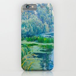 Václav Radimský (1867-1946) At The Confluence Colorful Bright Impressionist Oil Landscape Painting iPhone Case