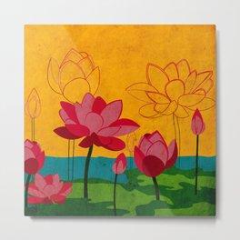 Flowers: lotus Metal Print