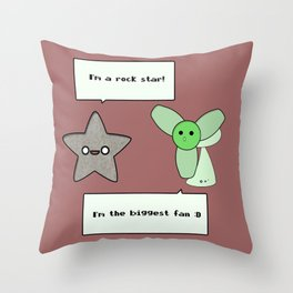 Rock star and the biggest fan Throw Pillow