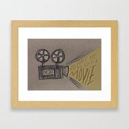 Cinema Date Framed Art Print
