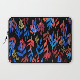 180726 Abstract Leaves Botanical Dark Mode 23|Botanical Illustrations Laptop Sleeve