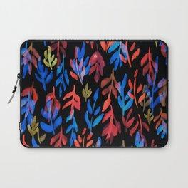 180726 Abstract Leaves Botanical Dark Mode 23 Botanical Illustrations Laptop Sleeve