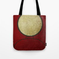 ironman Tote Bags featuring Ironman by Fries Frame