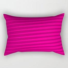Funky Lines (Fuchsia/DarkMagenta) Rectangular Pillow