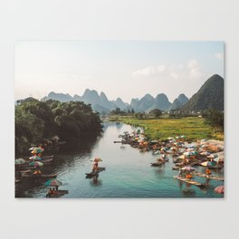 River bank scenic beauty Canvas Print