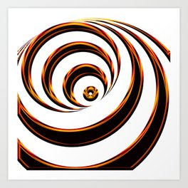Concentric Circles - Optical Illusion Art Print