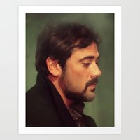 winchester Art Prints featuring john winchester by LindaMarieAnson