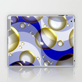 Ocean surfing (bubbles and waves) Laptop & iPad Skin