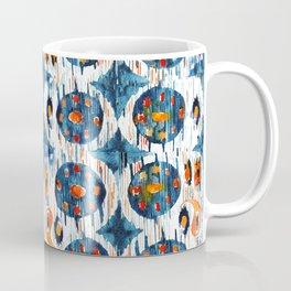 blue circle balinese ikat print mini Coffee Mug
