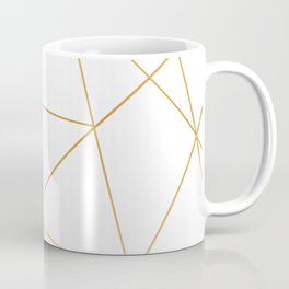 geometric gold and white Coffee Mug