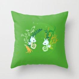 SeaUnicorns Throw Pillow
