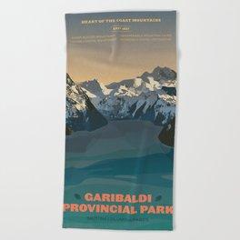 Garibaldi Park Poster Beach Towel