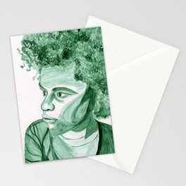 Gender-Neutral Monochrome--Green #watercolor #genderneutral Stationery Cards