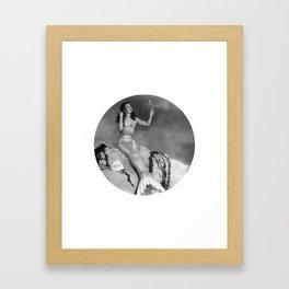 Mermaid With Mirror Framed Art Print