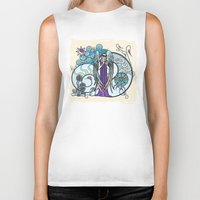 literary Biker Tanks featuring Angel of Clouds by DebS Digs Photo Art
