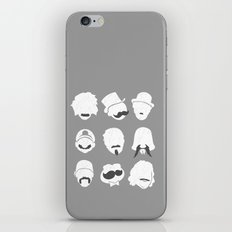 Famous Moustaches grey iPhone & iPod Skin