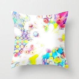 Splashed Milk and Cereal Throw Pillow