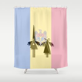ESC Moldova 2011 Shower Curtain